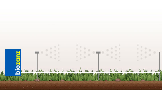 Barrière dans le jardin avec système anti-moustique biozanz