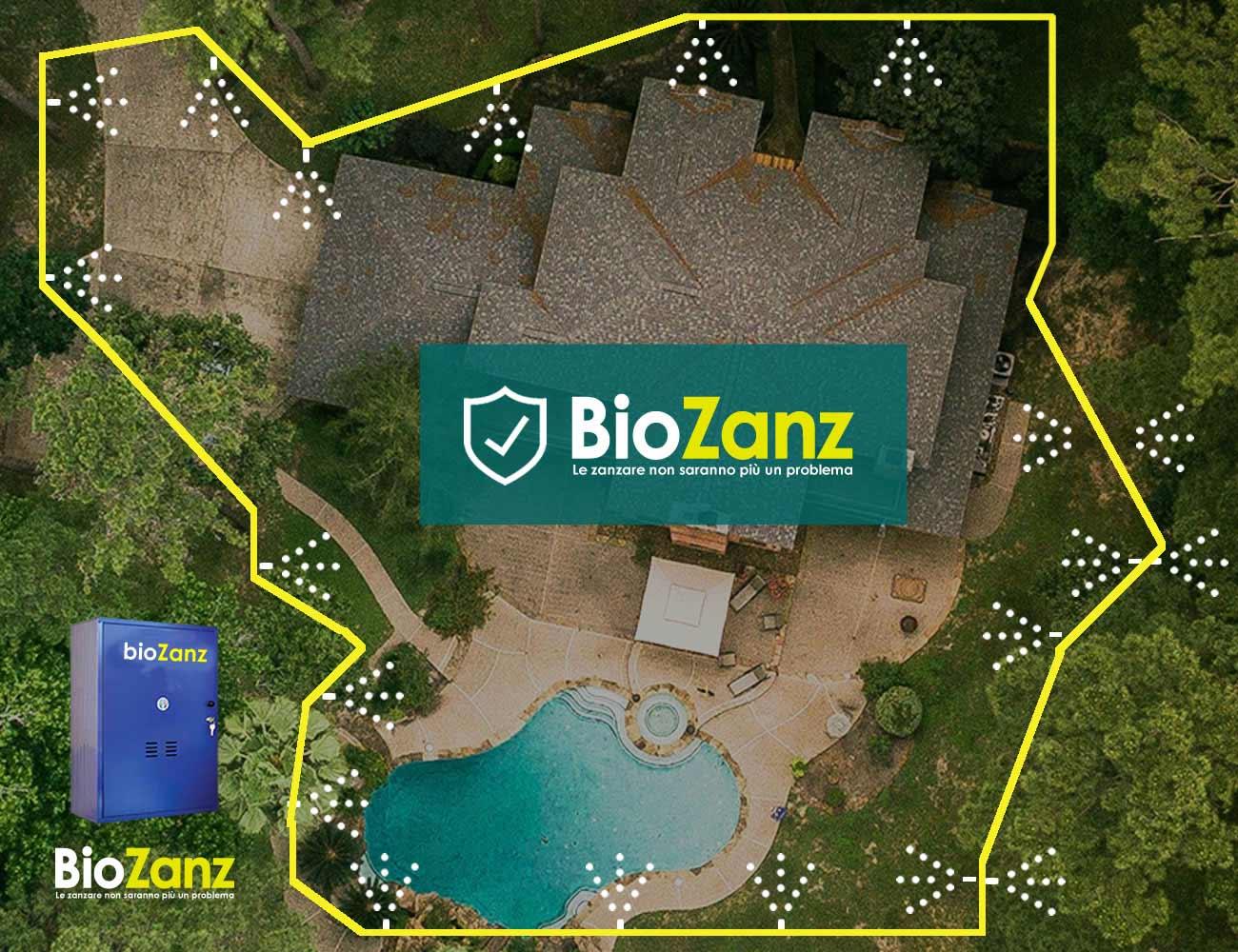 Barrière anti-moustiques avec système pour villas, jardins et parcs