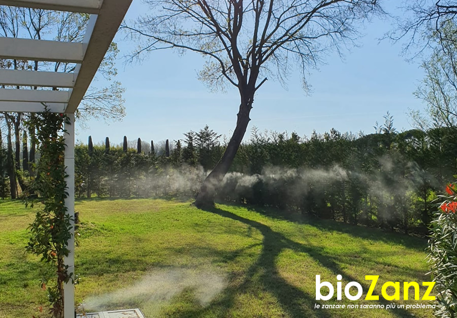 Mosquito repellent for natural barrier gardens
